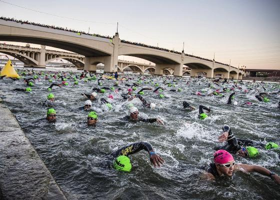 2017 IRONMAN Arizona Triathlon, IRONMAN Arizona, Swim.by
