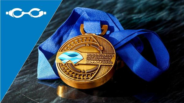 2020 World Athletics Half Marathon Championships Video, www.swim.by, 2020 World Athletics Half Marathon Championships Medal, Video World Half Marathon Championships 2020, Swim.by