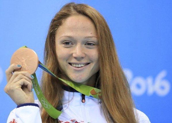 Aleksandra Herasimenia, Александра Герасименя, бронзовая медаль, плавание, Олимпиада 2016, Рио-2016, Swim.by