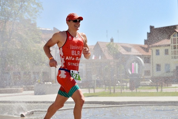 Aliaksandr Vasilevich Triathlete, Александр Василевич Триатлон, Half Ironman Triathlon, Susz Triathlon 2019, www.swim.by, Polish Triathlon, Triathlon Susz, Swim.by