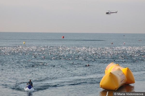 Плавание Ironman триатлон в Ницце Andrzej Waszkewicz