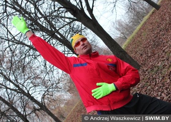 Andrzej Waszkewicz, круговая тренировка в парке, swim.by