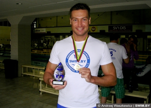 Andrzej Waszkewicz Lithuanian masters swimming championships 2014