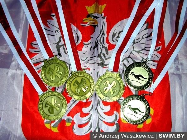 Andrzej Waszkewicz, mistrz Polski, plywanie