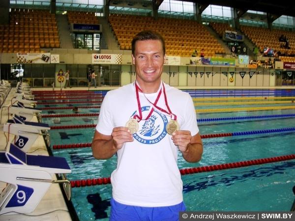 Andrzej Waszkewicz, Poland swimming champion, Андрей Вашкевич, плавание