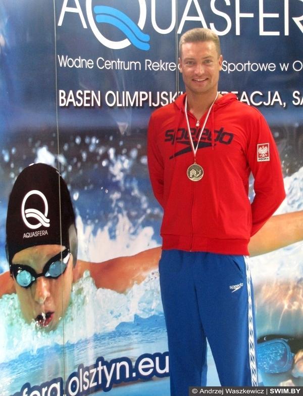 Andrzej Waszkewicz - Polish swimming masters championships Olsztyn-2014