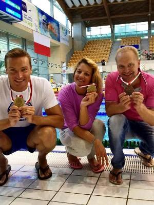 Андрей Вашкевич, Регина Сыч, Сергей Петров, плавание