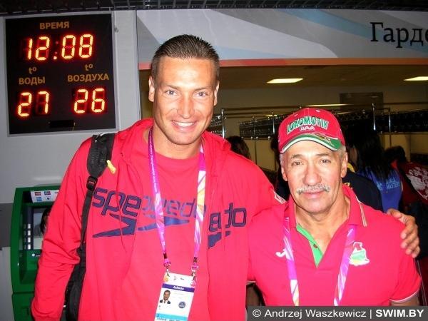 Andrzej Waszkewicz swimming, Yaroslav Novitskiy, Guinness World Records
