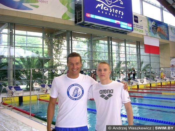 Andrzej Waszkewicz, Yauheni Puzan, swimming