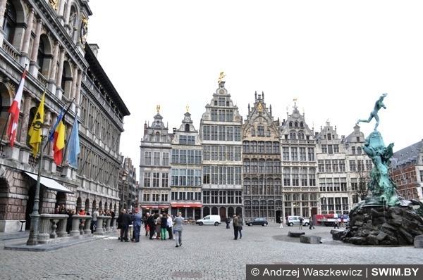 Центр города Антверпена Бельгия