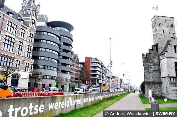Река Шельда в Антверпене Бельгия