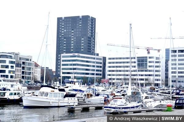 Морской порт в Антверпене Бельгия