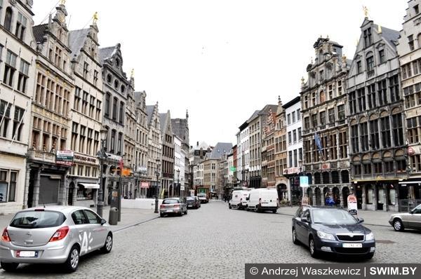 Улицы города Антверпена Бельгия