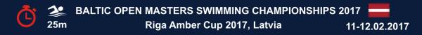 Baltic Open Masters Swimming Championships, Riga Amber Cup 2017, Results, Чемпионат Прибалтики по плаванию в категории Мастерс, Рига Мастерс, Результаты, Swim.by