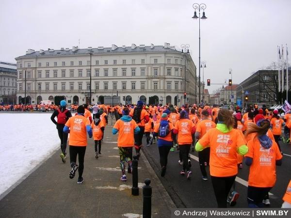 Благотворительный забег 5 км в Варшаве, бег Варшава, Swim.by