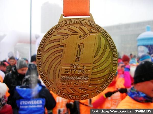 Благотворительный забег 5 км в Варшаве, бег Варшава, Andrzej Waszkewicz, Swim.by