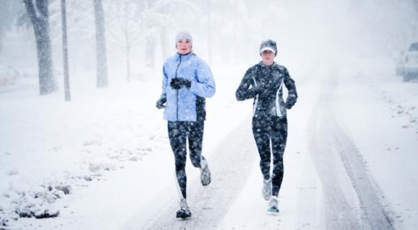 Бег зимой, бег трусцой