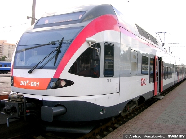 Andrzej Waszkewicz, Швейцарская электричка, поезда в Беларуси, вокзал Минска