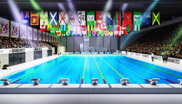 Birmingham 2022, Commonwealth Games, Commonwealth Games in UK, Birmingham Aquatics Centre, Swim.by
