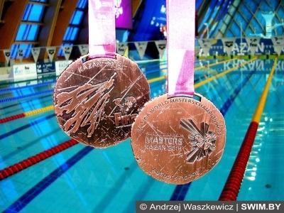 Bronze medals, World masters swimming championships, Kazan 2015, Andrzej Waszkewicz