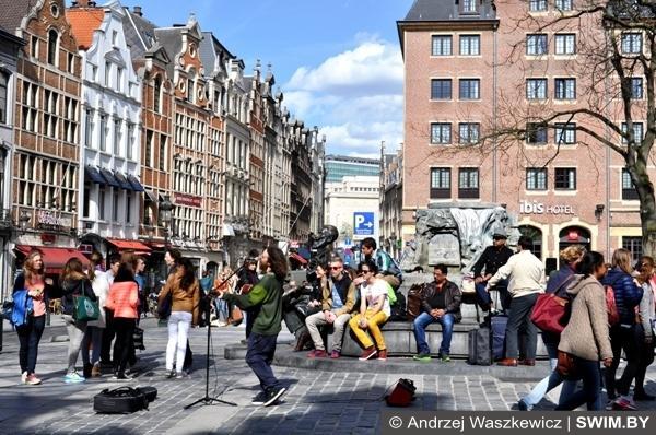 Архитектура и жизнь столицы Брюсселя Бельгия