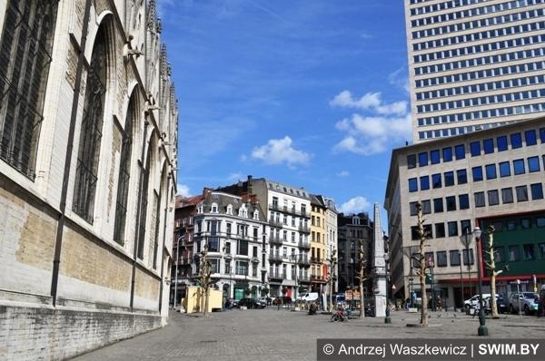 Архитектура города Брюсселя Бельгия