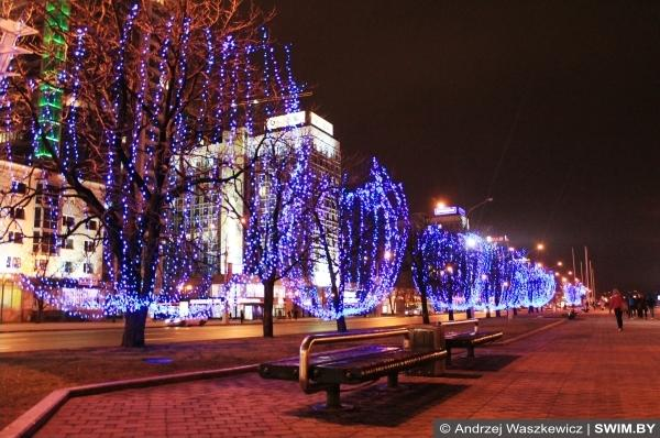 Christmas and New Year in Belarus Minsk