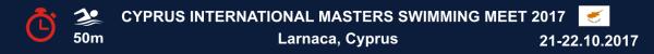 Cyprus International Masters Swimming Meet 2017, Cyprus Masters Swimming, Larnaca Masters Meet, Соревнования по плаванию Мастерс на Кипре, Results, Результаты
