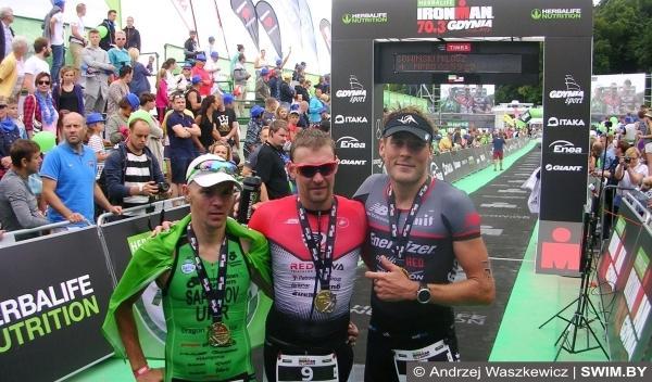 Daniil Sapunov, Ivan Tutukin, Sean Donnelly, триатлон Ironman, Ironman 70.3 Gdynia 2016
