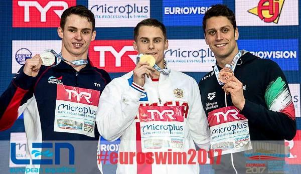 European SC Swimming Championships 2017 – 50 m Freestyle Men, Vladimir Morozov, Benjamin Proud, Luca Dotto, Swim.by