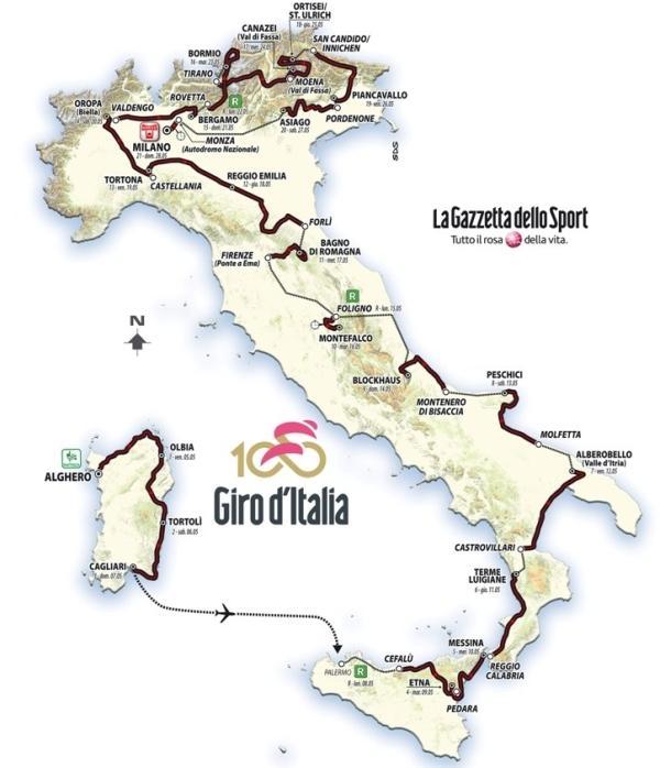 Giro d'Italia 2017, Джиро д'Италия 2017, велогонка Giro d'Italia, маршрут Джиро д'Италия 2017, Swim.by