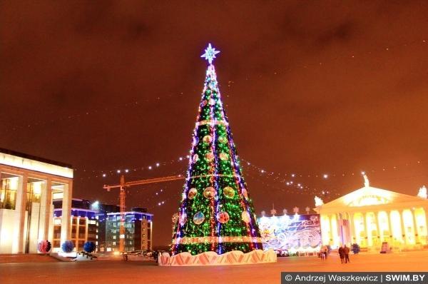 Главная ёлка Минска Беларуси