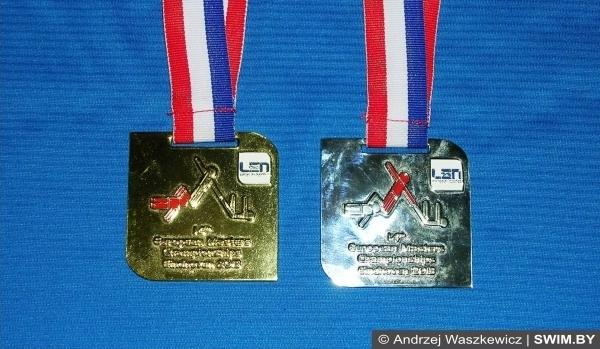 Золотая, серебряная медаль, European masters swimming championships 2013, Чемпионат Европы по плаванию мастерс 2013