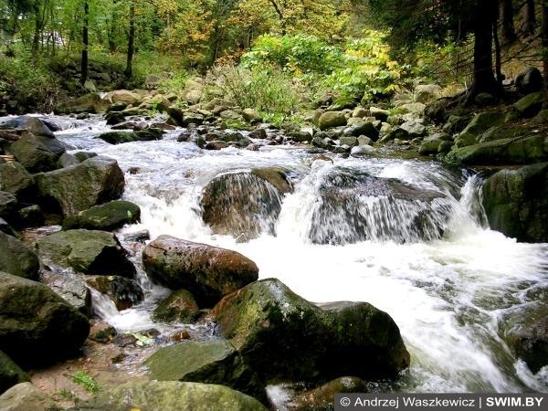 Горный водопад, Польша
