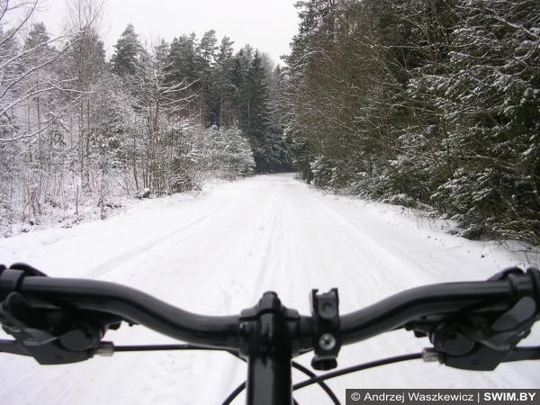 Холодная погода, велосипед зимой, тренировки