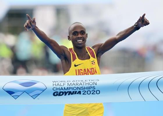 Jacob Kiplimo, Gdynia Half Marathon 2020, Jacob Kiplimo Uganda Running, Jacob Kiplimo World Champion, Jacob Kiplimo Marathon Running, World Athletics Half Marathon Championships 2020, Running.by