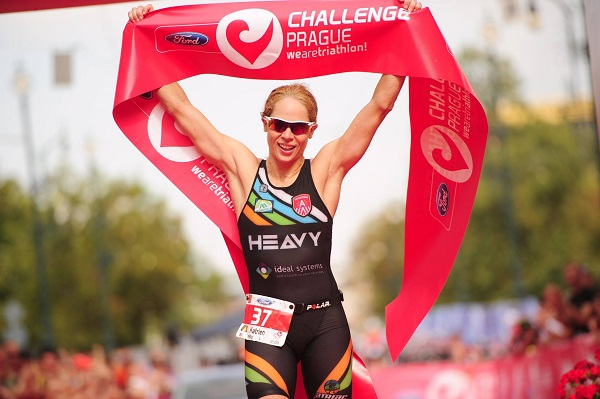 Javier Gomez, Katrien Verstuyft, Challenge Prague Triathlon 2018, www.swim.by, Challenge Triathlon, Challenge Prague, Swim.by