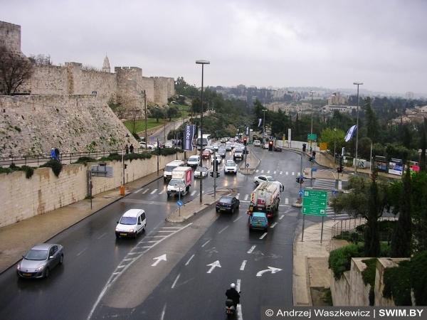 Современный Иерусалим, Израиль, старый город, евреи