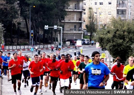Марафон в Иерусалиме, Иерусалимский марафон, Jerusalem Marathon, Andrzej Waszkewicz