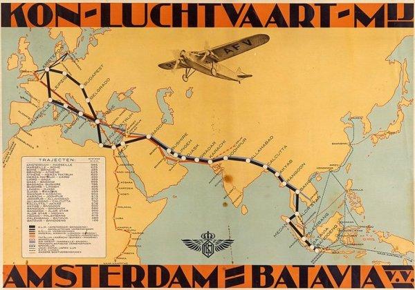 KLM - Королевские Голландские Авиалинии, перелёт Амстердам - Джакарта, Индонезия