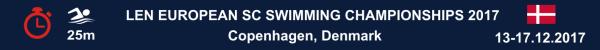 LEN European Short Course Swimming Championships 2017, Results, Copenhagen, Denmark, Чемпионат Европы по плаванию на короткой воде 2017, Результаты, Swim.by