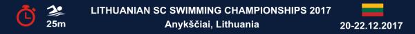 Lithuanian SC Swimming Championships 2017, Results, Lietuva, Varzybu Rezultatai, Wyniki Mistrzostw Litwy w plywaniu, Результаты Чемпионата Литвы по плаванию, Swim.by