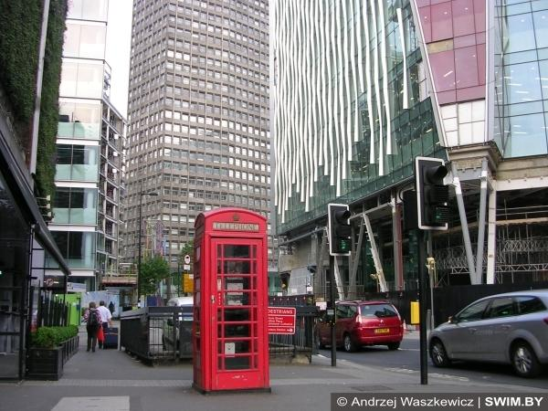 Лондон, красная телефонная будка, туристические символы Лондона
