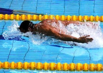 Трос Long Safety Cord Mad Wave для тренировок по плаванию в бассейне