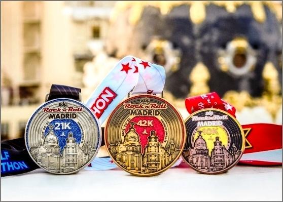 EDP Rock 'n' Roll Madrid Marathon, Madrid Marathon 2020, www.swim.by, Madrid Marathon Medals 2020, Swim.by