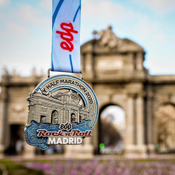 Madrid Marathon Medal 2020, Rock Roll n 'Roll Madrid Marathon 2020, www.swim.by, Madrid Half Marathon Medal 2020, Madrid Marathon Medals, Swim.by