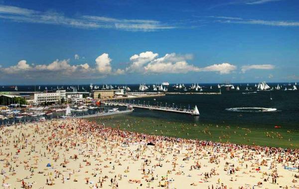 Главный городской пляж Гдыни, пляжи Гдыня