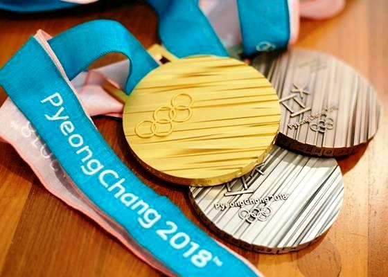 Дизайн медалей Зимних Олимпийских Игр 2018