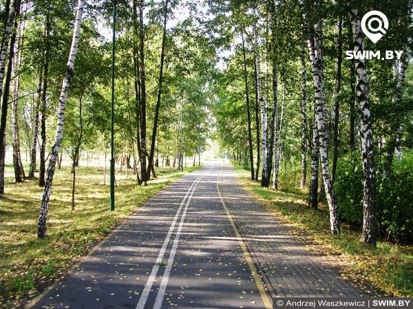 Minsk bicycle path, Belarus,  Минская велодорожка