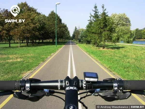 Minsk bicycle path route, велодорожка Минска